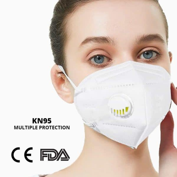 KN95 Mask with 50pcs KN95 Masks with Breathing Valve