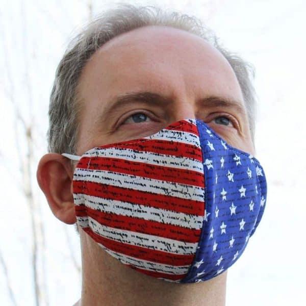 American Flag 3 Layer Mask
