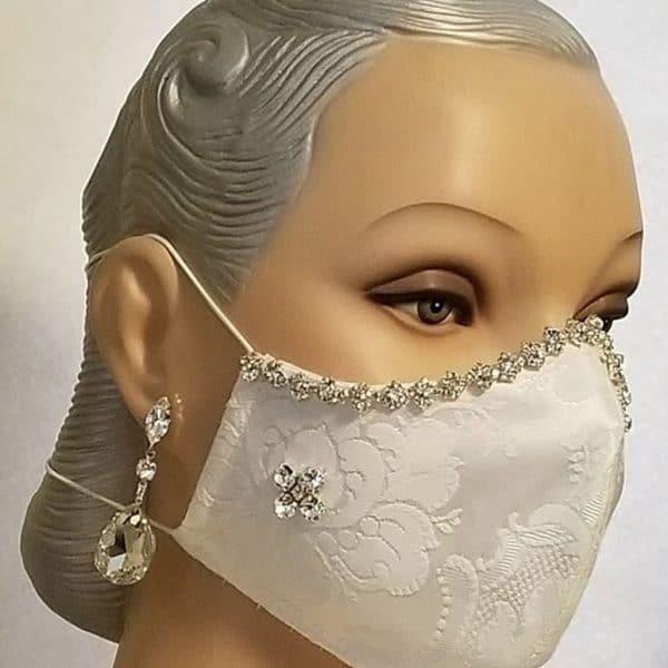 Fabric Face Mask, Bridal Mask, Hand Washable