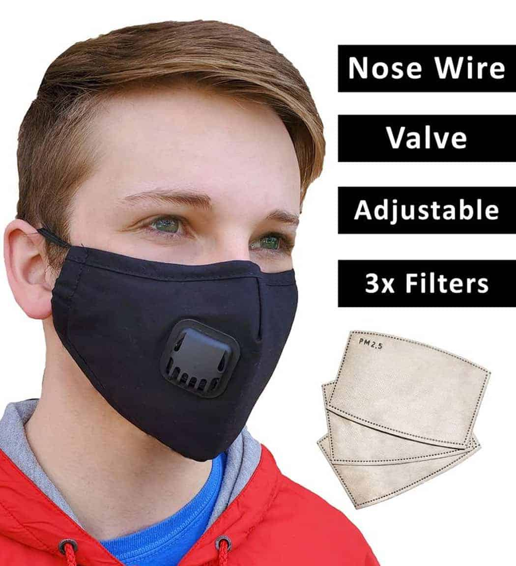 Face Mask with 3 Filters PM 2.5