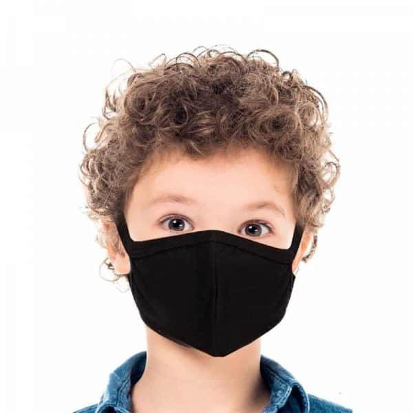 kids face mask washable black