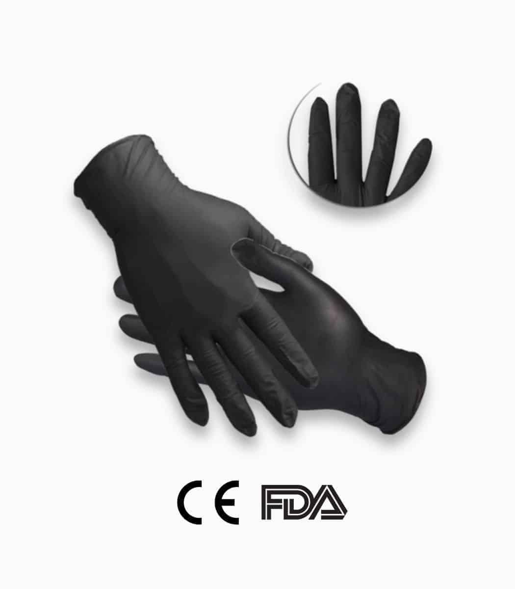 Nitrile gloves black color