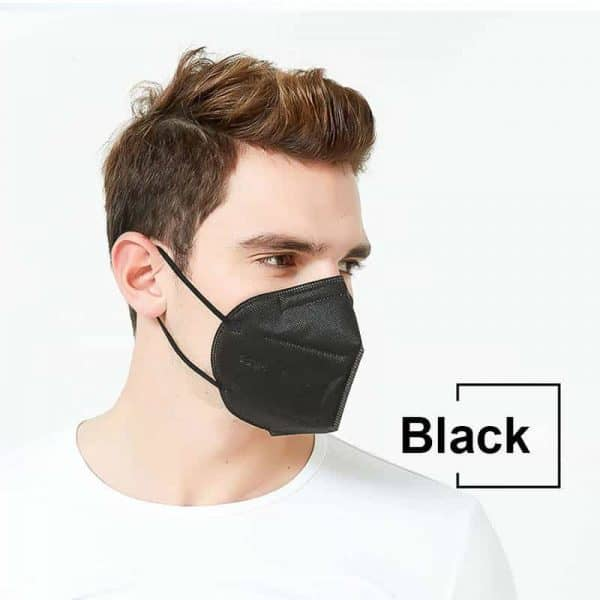 Black KN95 Protective Face Mask PM2.5