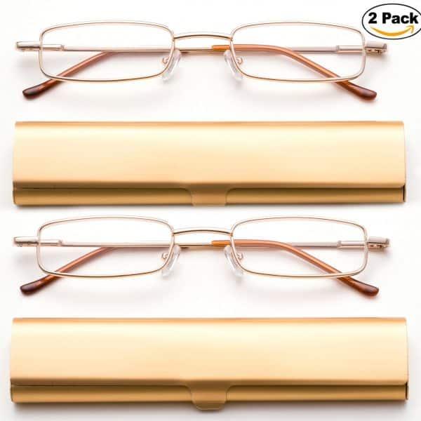 Reading Glasses in Aluminum Case