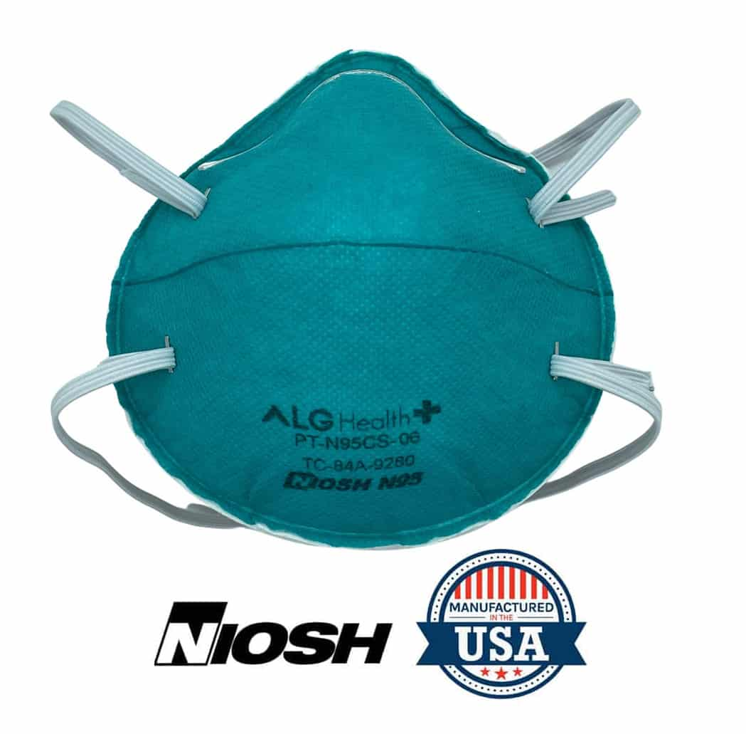 INDUSTRIAL MOLDED N95 RESPIRATOR WITH METAL NOSE PIECE