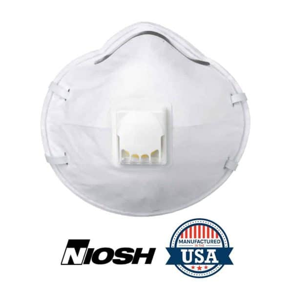 MOLDED N95 RESPIRATOR WITH EXHALE VALVE