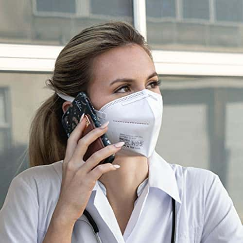 Aidway N95 Respirator - Men & Women - Protection from Dust & Airborne Contaminants - Disposable 4