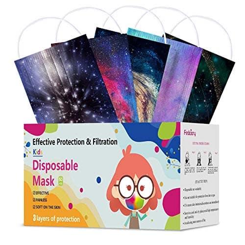 50PCS Kids Disposable Face Masks