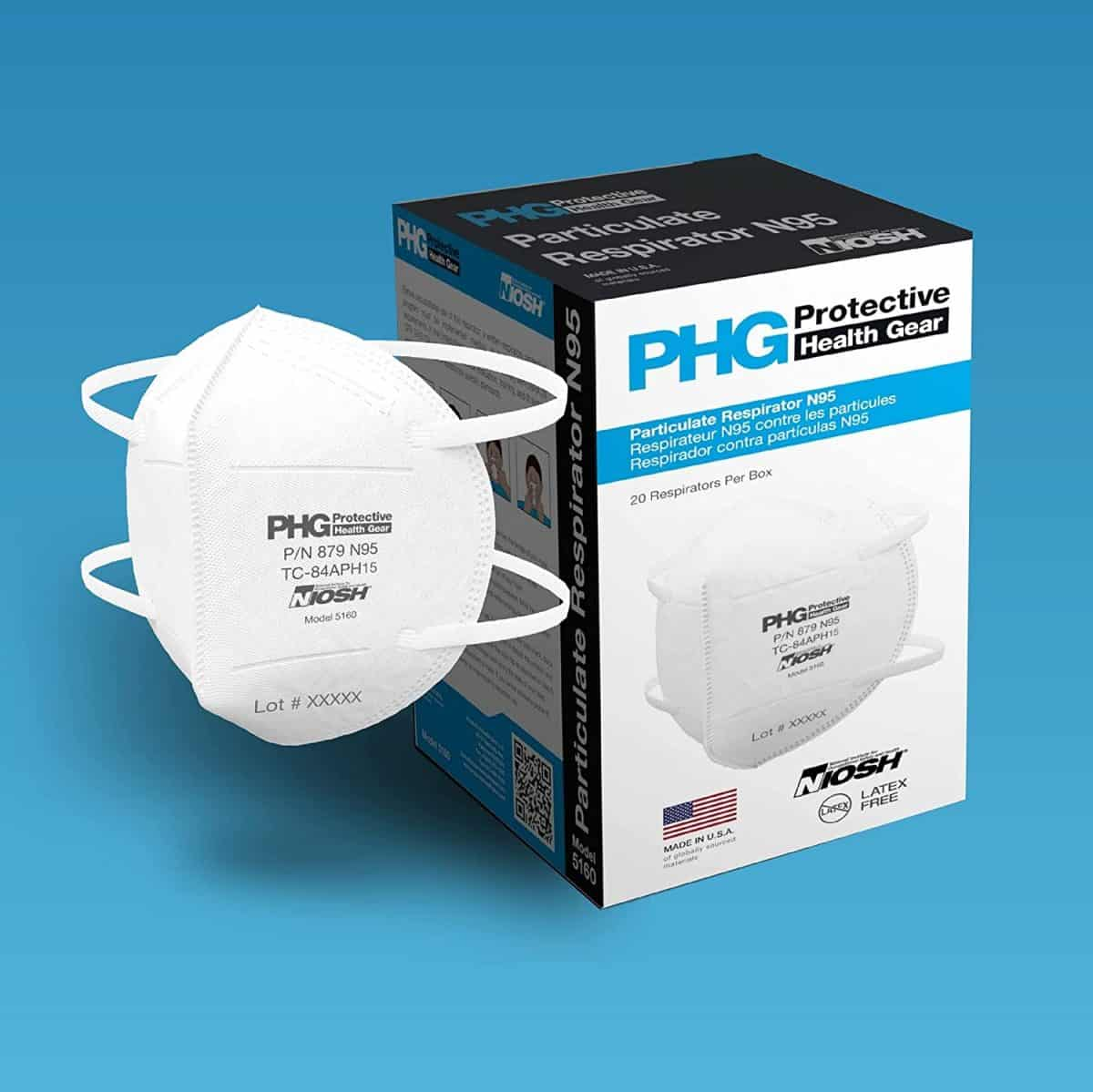 phg N95 mask MADE IN USA