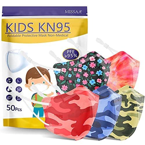 KN95 Face Mask for Kids 50 Pack