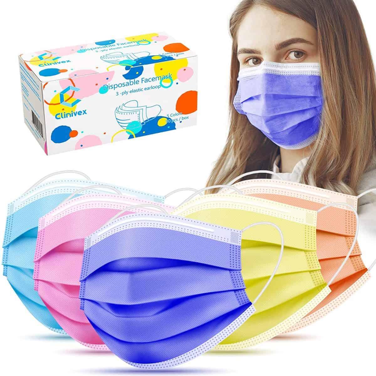 Clinivex Colored Face Masks