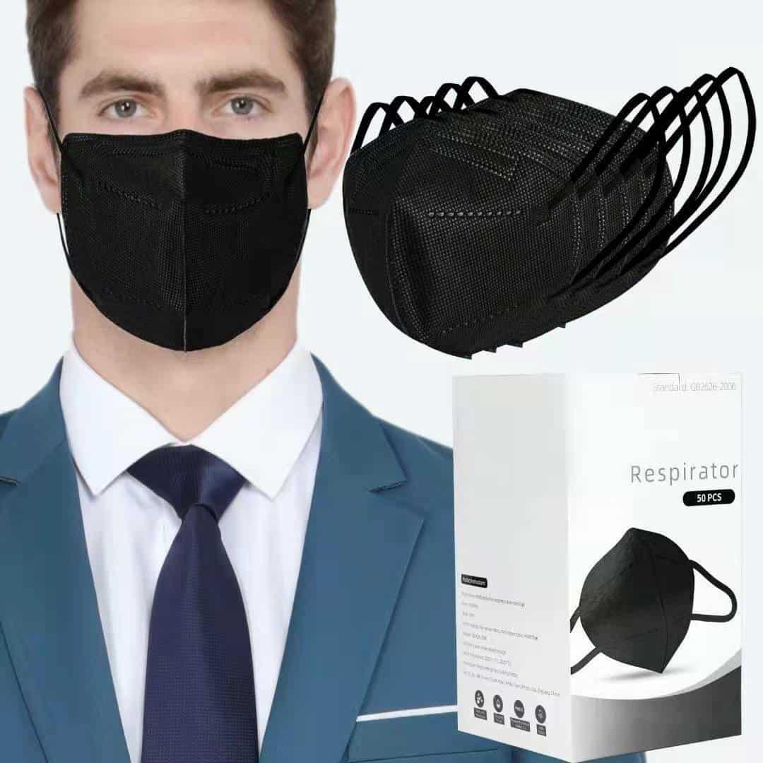 black color KN95 mask
