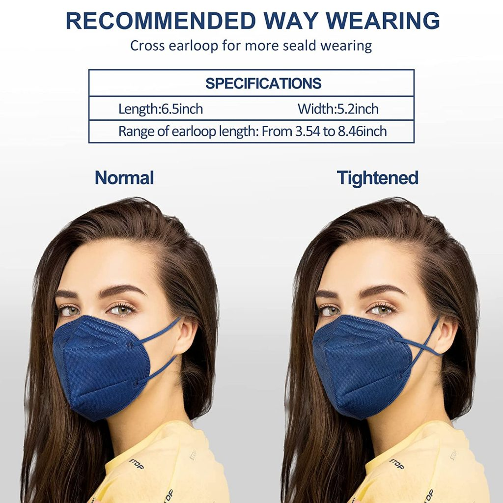 30 Packs KN95 Face Mask, 5-Plyers Protection Cup Dust Face Mask, Breathable Protection Mask for Women Man, Pink 13