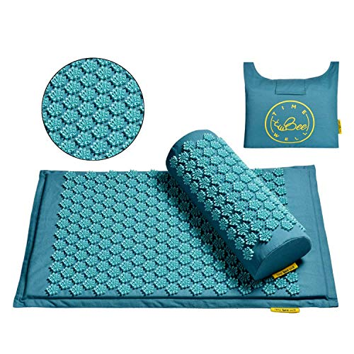 TimeBeeWell Acupressure Mat and Pillow Set